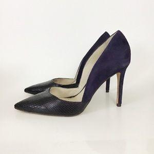 Louise et Cie Hermosah Leather Suede Purple Heel